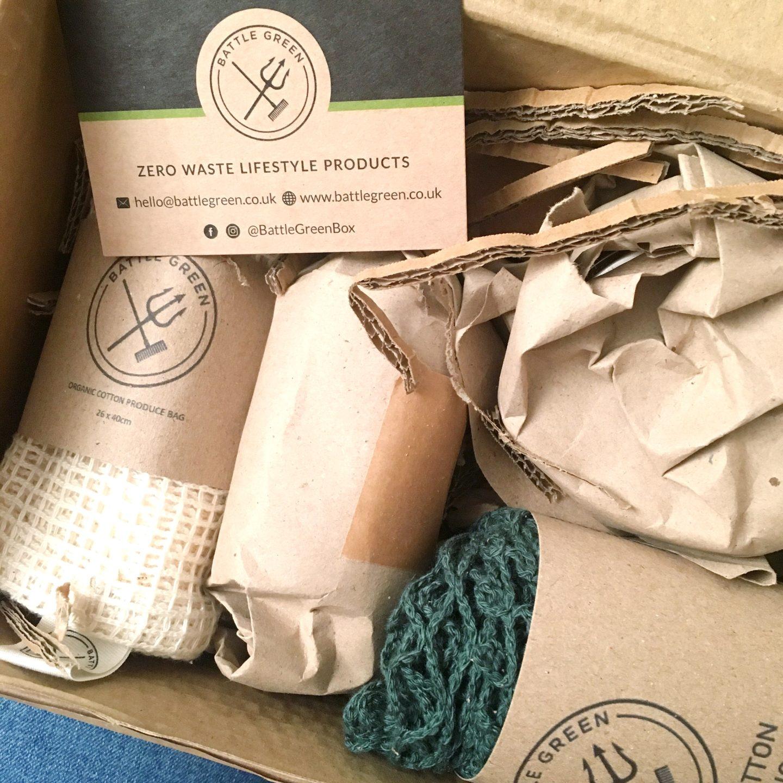 Battle Green Box plastic free packaging