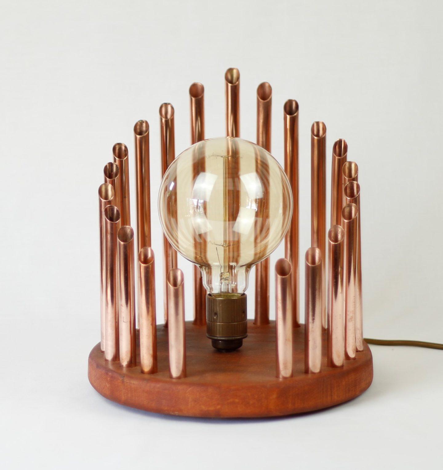 The organ handmade copper light by Light'artedly
